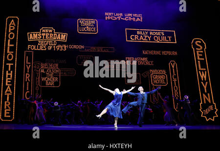 London, UK. 30th Mar, 2017. Pic shows: 42nd Street show at Theatre Royal Drury Lane starring Stuart Neal as Billy - Stock Photo