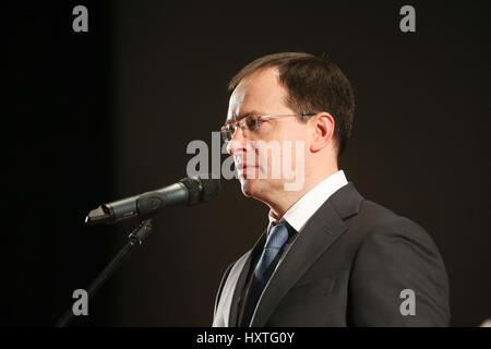 Moscow, Russia. 29th Mar, 2017. Minister of Culture of the Russian Federation Vladimir Medinsky at the premiere - Stock Photo