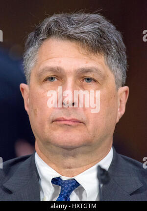 Washington DC, USA. 30th March 2017. Dr. Eugene Rumer, Director of Russia and Eurasia Program, Carnegie Endowment - Stock Photo