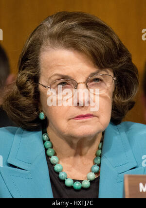 Washington DC, USA. 30th March 2017. United States Senator Dianne Feinstein (Democrat of California), questions - Stock Photo