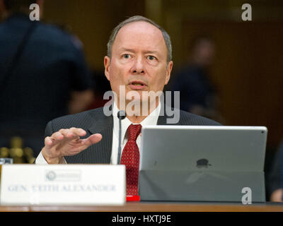 Washington DC, USA. 30th March 2017. United States Army General (Retired) Keith B. Alexander, former Director, National - Stock Photo