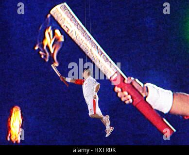 OLYMPIC TORCH OPENING CEREMONY OLYMPIC STADIUM BEIJING CHINA 08 August 2008 - Stock Photo