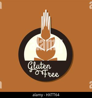 Gluten Free Label  Food intolerance symbols  Vector