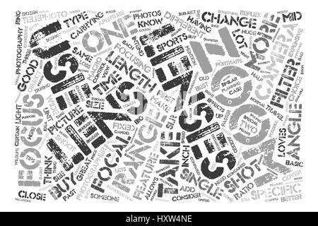 BWP zoom text background word cloud concept - Stock Photo