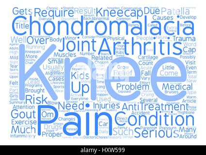 Chondromalacia A Pain In The Knee text background word cloud concept - Stock Photo