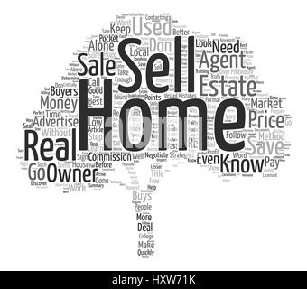 Does For Sale By Owner Work text background word cloud concept - Stock Photo