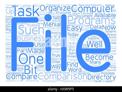 How To Compare File And Directory Systems And Why text background word cloud concept - Stock Photo