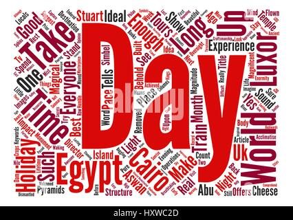 Is a week long enough for a holiday in Egypt text background word cloud concept - Stock Photo