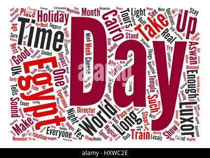 Is a week long enough for a holiday in Egypt Word Cloud Concept Text Background - Stock Photo