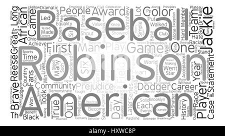 Jackie Robinson text background word cloud concept - Stock Photo