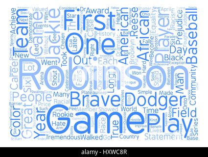 Jackie Robinson Word Cloud Concept Text Background - Stock Photo