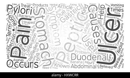 Learn About Peptic Ulcer Word Cloud Concept Text Background - Stock Photo