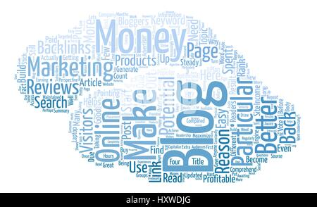 Make Money With your blog Why Are Blogs Profitable Word Cloud Concept Text Background - Stock Photo