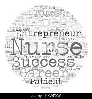 nurse entrepreneur text background word cloud concept - Stock Photo