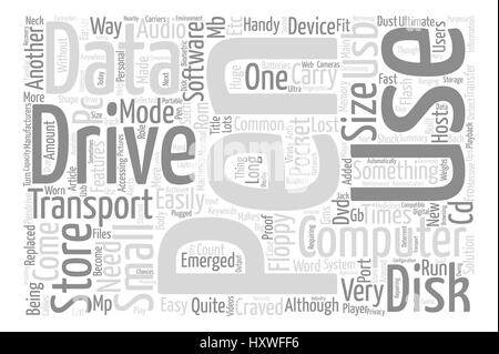 Pen Drive As The Ultimate Mode To Transport Data text background word cloud concept - Stock Photo