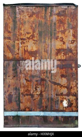 Rusty Metal Door old rusty metal door into the bunker stock photo, royalty free