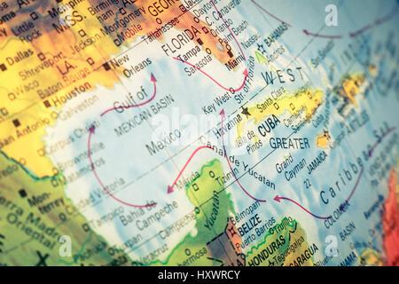 Travel cuba havana map atlas map of the world travel stock map cuba and florida close up macro image of cuban map selective focus gumiabroncs Image collections