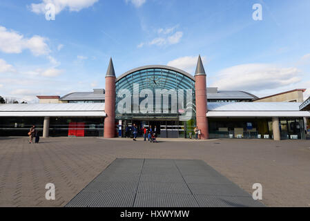 Gare de Marne-la-Vallée – Chessy railway station is a combined RER (commuter rail) and TGV (high-speed train) station - Stock Photo