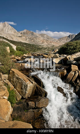 CA03134-00...CALIFORNIA - Small cascade on Palisade Creek along the JMT/PCT in the Sequoia and Kings Canyon Wilderness. - Stock Photo