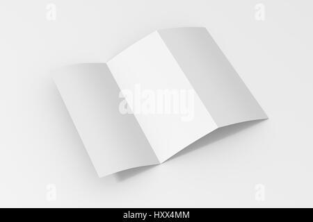 Trifold Brochure Corporate Design Template Vector Tech Design - Blank tri fold brochure template
