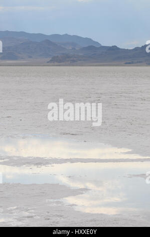 Salt Desert, Bonneville, Utah - Stock Photo