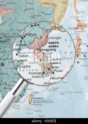 Map of south korea with flag stock photo 110115288 alamy global business south korea korea highlighted stock photo gumiabroncs Images