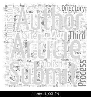 The Right Way to Mass Submit your Article text background word cloud concept - Stock Photo