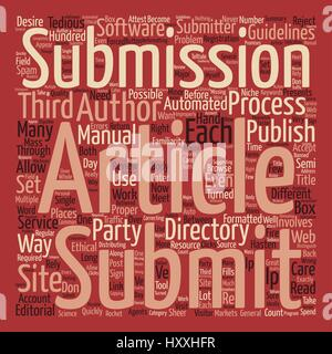 The Right Way to Mass Submit your Article Word Cloud Concept Text Background - Stock Photo