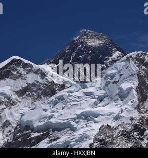 Mount Everest seen from Kala Patthar, Nepal. - Stock Photo