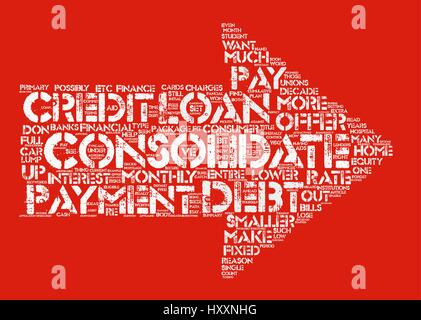 Why Do You Have To Consolidate Word Cloud Concept Text Background - Stock Photo