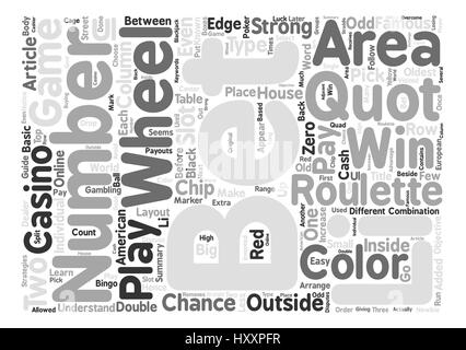 Your Guide On How To Play Roulette Word Cloud Concept Text Background - Stock Photo