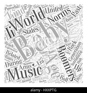 baby boomers and breaking age related norms Word Cloud Concept - Stock Photo