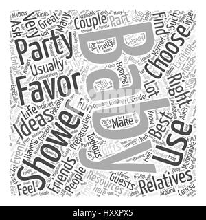 baby shower favors Word Cloud Concept - Stock Photo