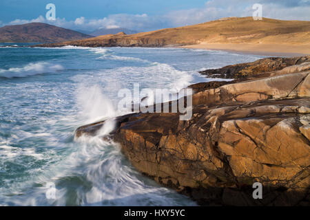 Coast at Horgabost, South Harris, Outer Hebrides - Stock Photo