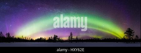Aurora arc - Stock Photo