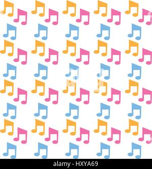 colored music notes stock vector art illustration vector image