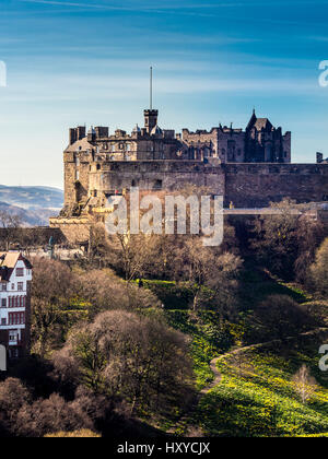 Edinburgh Castle, Edinburgh, Scotland, UK. - Stock Photo