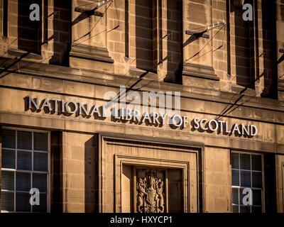 National Library of Scotland, Edinburgh, Scotland. - Stock Photo