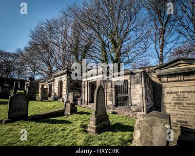 New Calton Burial Ground, Edinburgh, Scotland. - Stock Photo