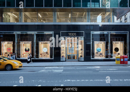 NEW YORK - SEPTEMBER 12: Tod's store in Madison Avenue on September 12, 2016 in New York. Tod's Group is an Italian - Stock Photo