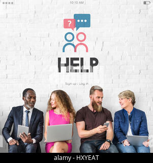 Support Consulting Help Graphic Icon Word - Stock Photo