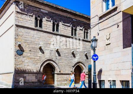 The Palace of Valdecarzana also known as the House of the Baragañas. Avilés, Principality of Asturias, Spain, Europe - Stock Photo