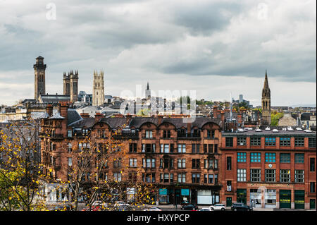View of Glasgow's West End from Charing X - Stock Photo