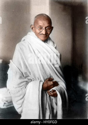 Mahatma Gandhi, Indian freedom fighter, London, 1931, vintage, 1900s