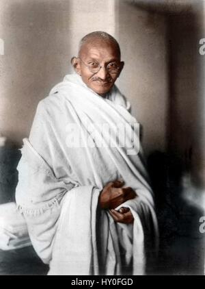 Mahatma Gandhi, Indian freedom fighters, London, 1931, vintage, 1900s - Stock Photo