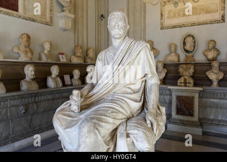 Rome. Italy. Statue of Roman Consul and military commander Marcus Claudius Marcellus (ca. 268-208 BC), Hall of the - Stock Photo