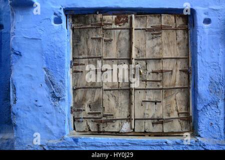Wooden door, jodhpur, rajasthan, india, asia - Stock Photo