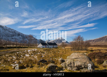 Black Rock Cottage - Glencoe Scotland - Stock Photo