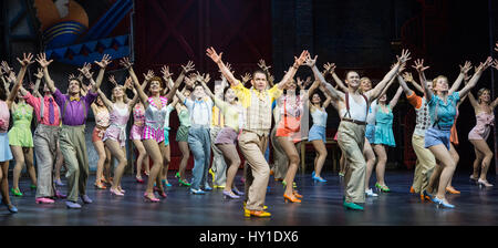 Photocall for the musical 42nd Street at the Theatre Royal Drury Lane. The musical features a score by Harry Warren - Stock Photo