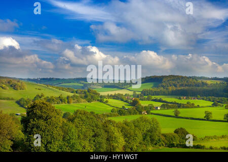 Hambleden Valley, Buckinghamshire, UK, October - Stock Photo